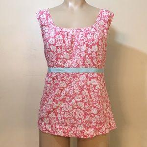 Boden Pastel Pink Cherry Blossom Flower Tank Top